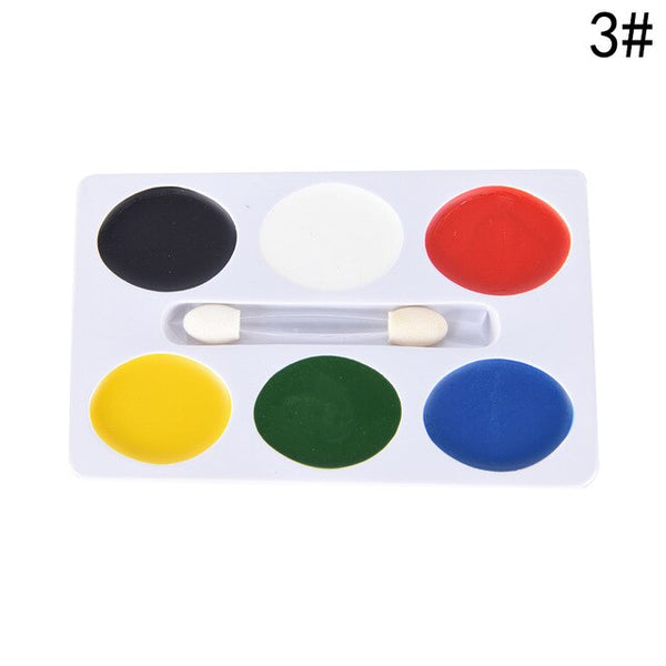 5/6/8 colors water paint oil body makeup (No toxic)