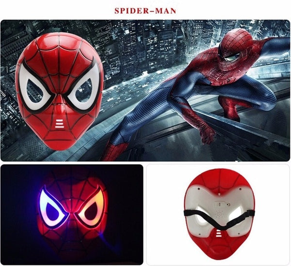 LED party superhero masks