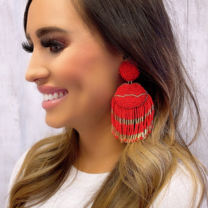 Lip Tassel Red