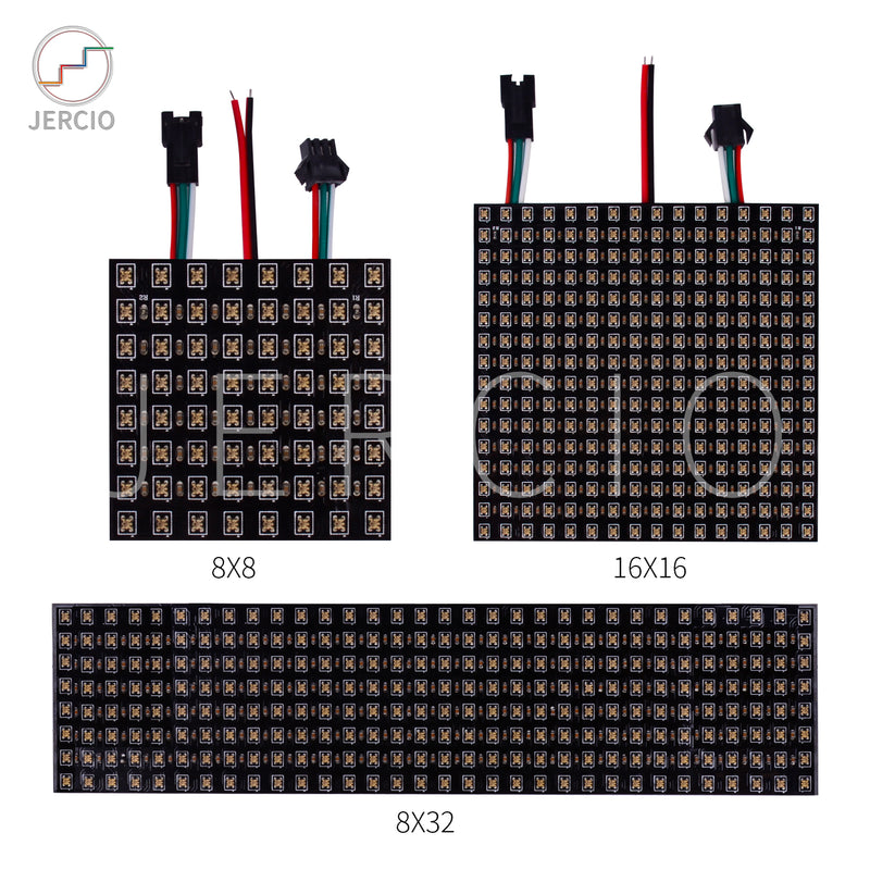 JERCIO XT1511-D20 individually addressable Mini 2020 SMD LED Rectangular Pixel Panel with Intergrated IC ws2812b