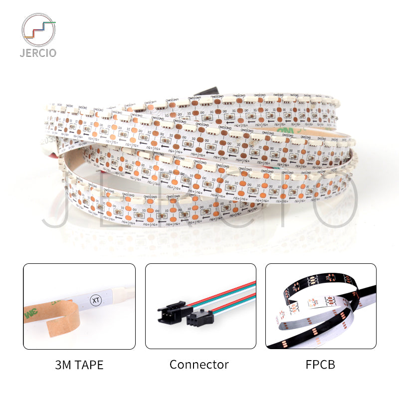 XT1603-N SMD LED strip light ws2812b alike 4020 RGB pixel addressable controllable cuttable programmable for decorate lighting