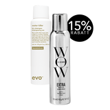 Novalanalove-Vorteilsset: Color Wow Myst-ical Shine Spray & evo Water Killer Dry Shampoo brunette