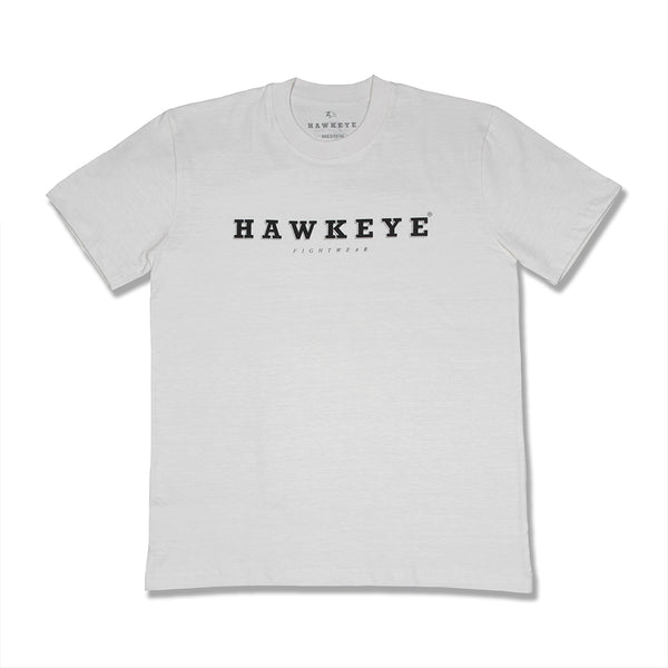 Hawkeye Logo Broken White Basic Tee