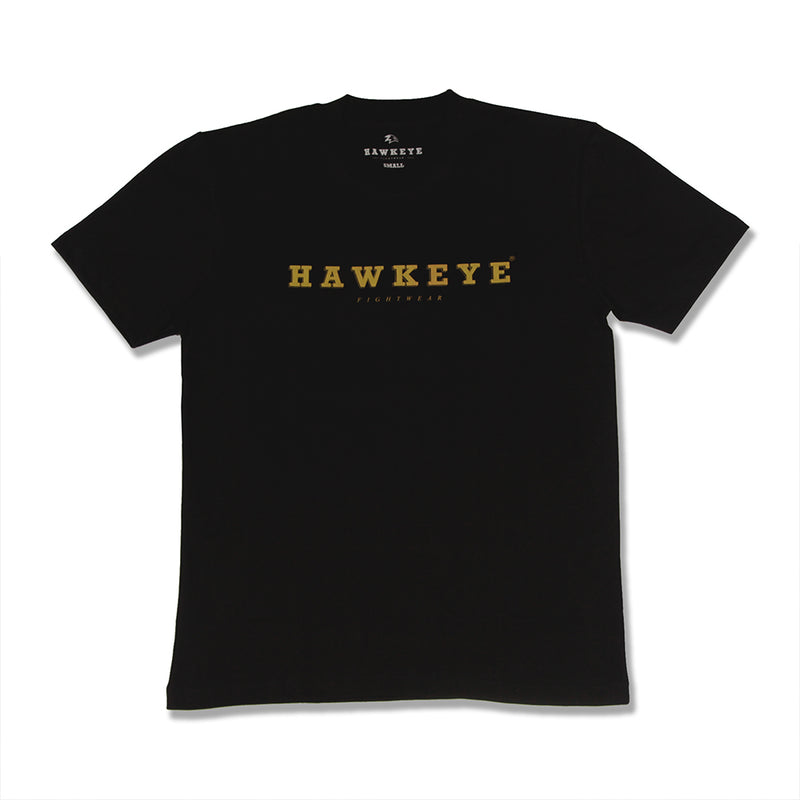 Hawkeye Logo Black Basic Tee