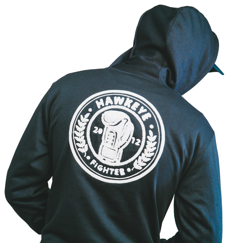 Fighter Stamp Navy Pullover Hoodie
