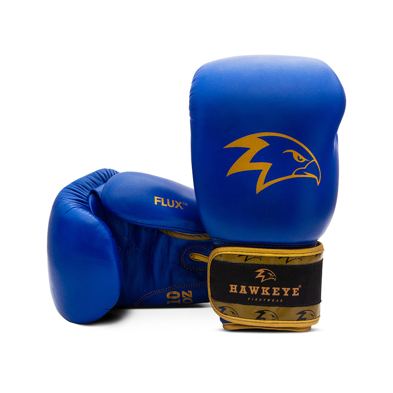 The Gold Azure Boxing Gloves