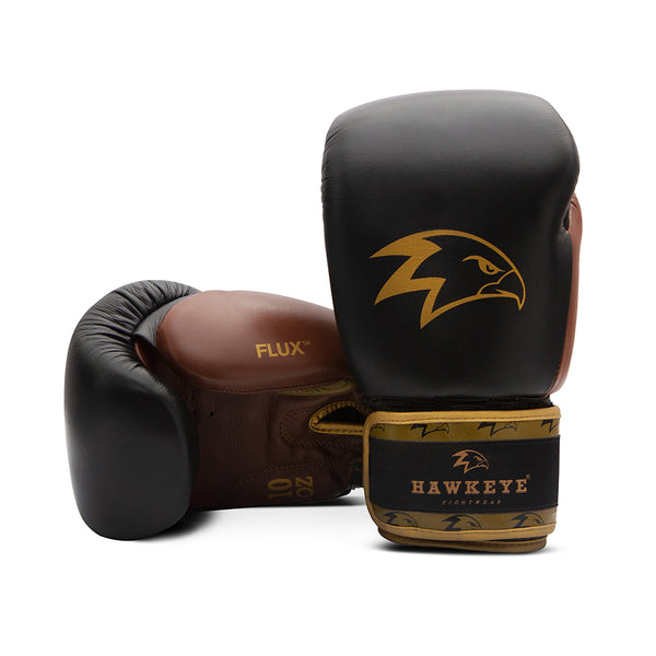 The Gold Midnight Auburn Boxing Gloves