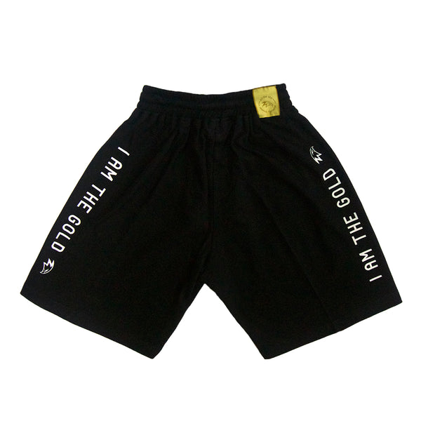 I Am The Gold Black Sweatshorts