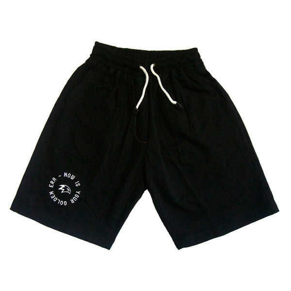 Now Is Your Golden Era Black Sweatshorts