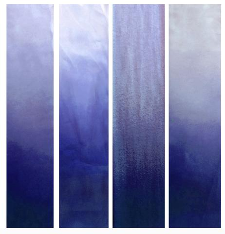 swatches of various fabrics dyed wedding gown