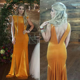 91801p PETITE Vera stretch velvet bridesmaid prom dress mermaid V back