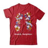 Howdy Neighbor Texas Relief tee longhorn armadillo