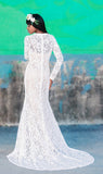 RENTAL: CAP SLEEVE Blanchette size 4 Lace Wedding Gown