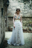 Maggie: Watercolor + tulle skirt [ws]