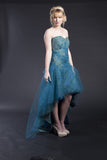 SAMPLE Mariah sz 4-10 high low strapless gown with tulle ballgown overskirt separates
