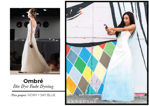 Ombre Gown Dip Dye Coloring Service