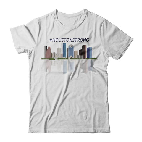 #HoustonStrong tee Skyline reflection