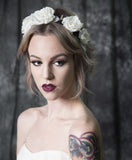 "V115B ""Stevie"" Spike Floral Bridal Headband"