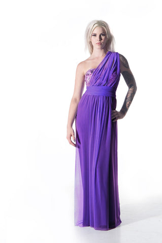91502 Lilah Infinity Convertible Wrap Twist Bridesmaid Dress: Full or Knee Length