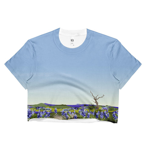 Crop Tee: Wimberley Bluebonnet Texas Hill Country