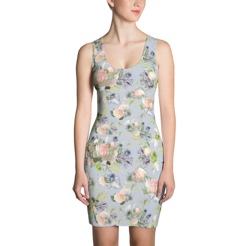 Print Minidress: Maggie Watercolor, Periwinkle