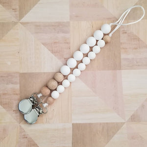 Natural Teething Pacifier Clips