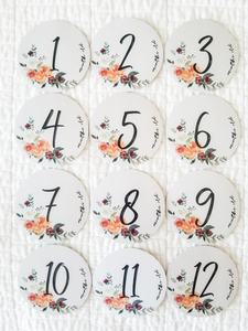 Watercolor Milestone Cards