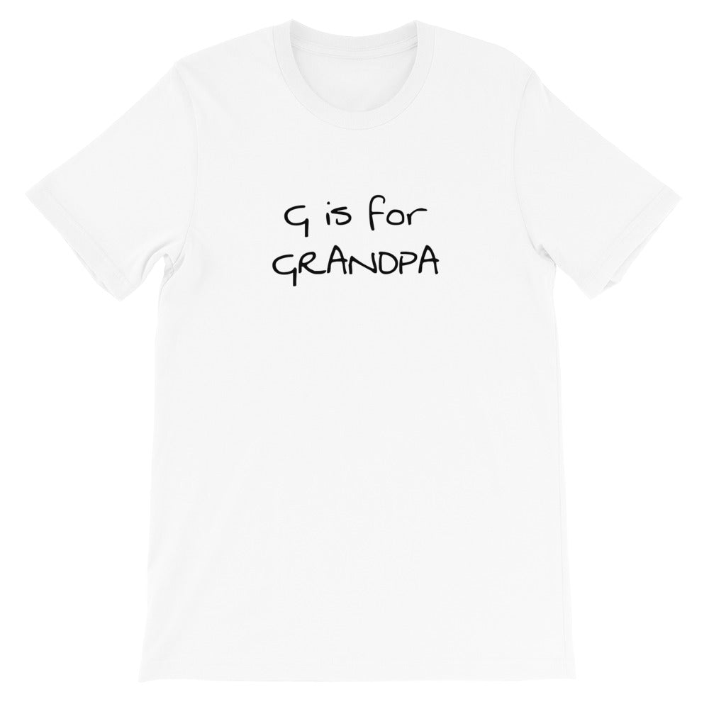 Short-Sleeve G is for GRANDPA T-Shirt