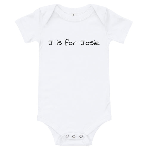Personalized onesie - A is for Amber