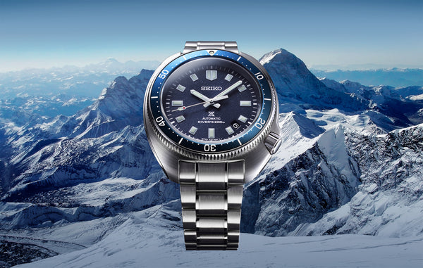 A re-interpretation of the Seiko 1970 diver's watch commemorates the life and achievements of adventurer Naomi Uemura.