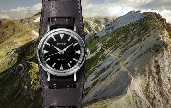 The re-creation of Seiko's first Alpinist watch from 1959. An important sports watch classic is re-born.