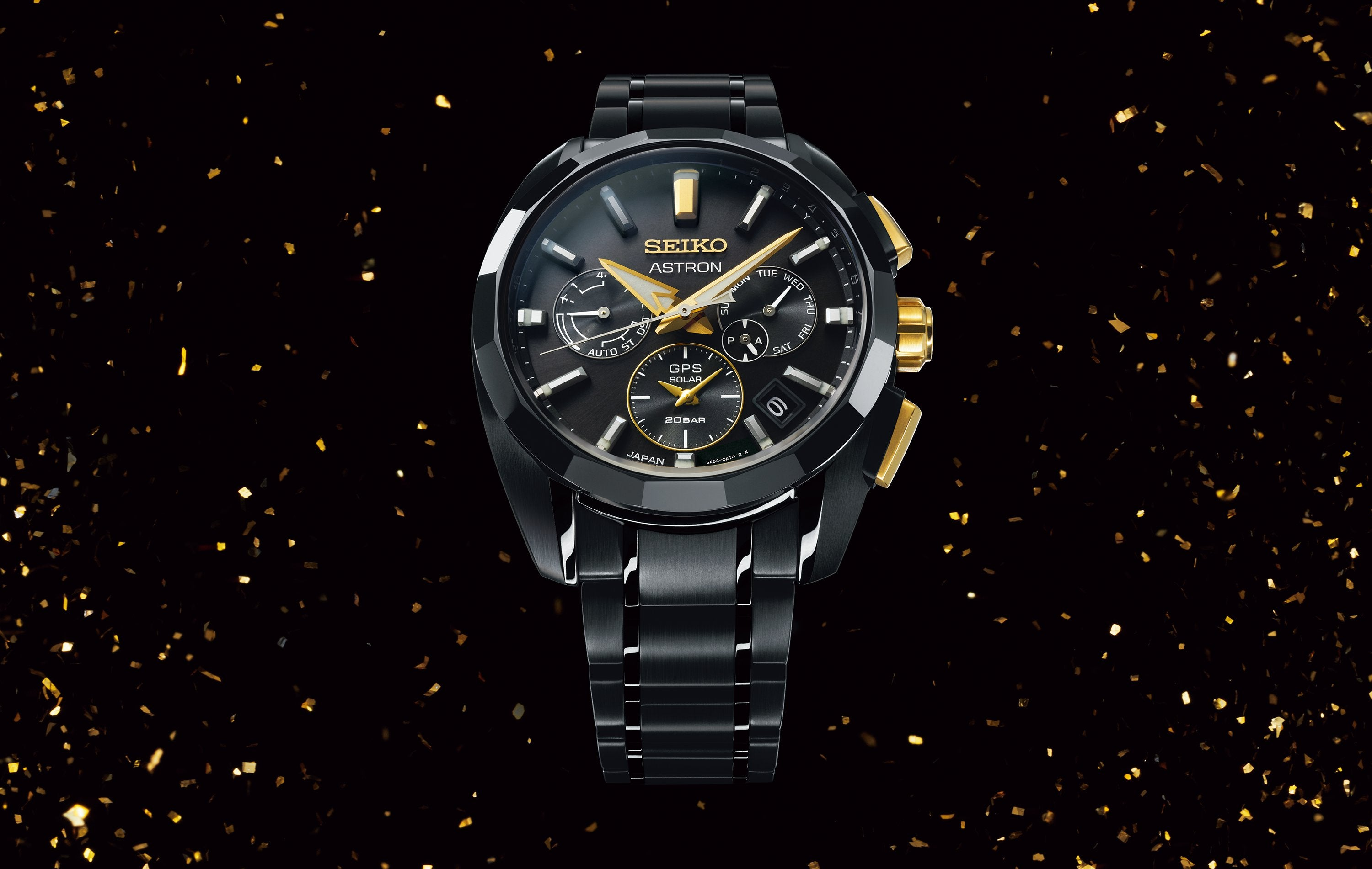 """One step ahead of the rest."" The 160th anniversary of Kintaro Hattori's birth is marked with a special Astron GPS Solar watch."