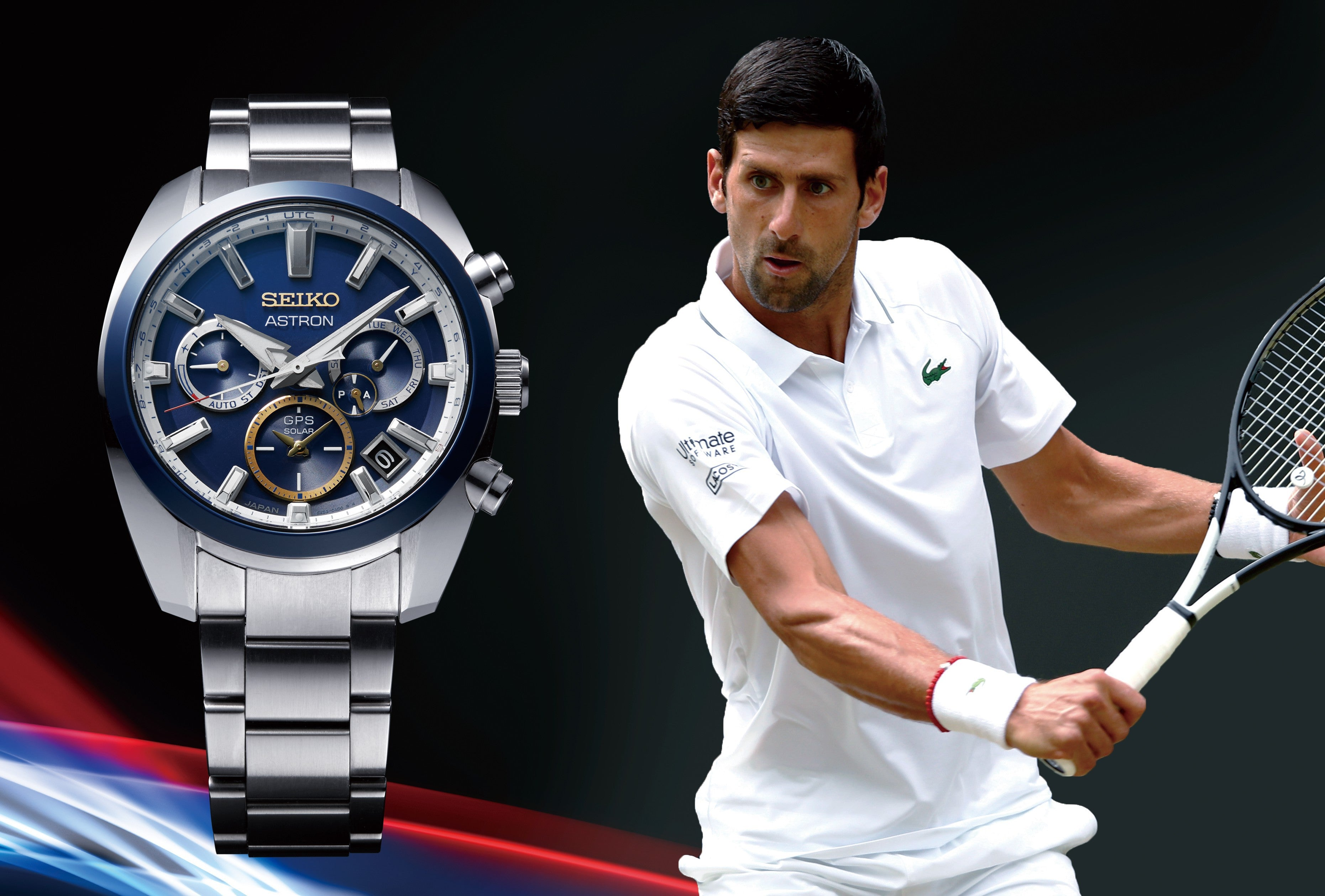 A new Astron GPS Solar watch flies the flag for Novak Djokovic