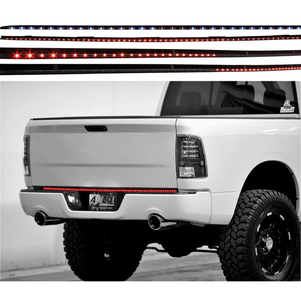 ANZO LED Tailgate Bar Universal LED Tailgate Bar w/ Amber Scanning, 60in 6 Function