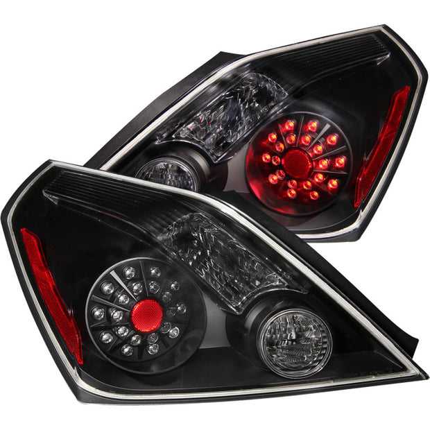 ANZO 2008-2013 Nissan Altima (2 Door ONLY) LED Taillights Black