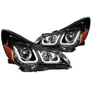 ANZO 2010-2014 Subaru Outback Projector Headlights w/ U-Bar Black