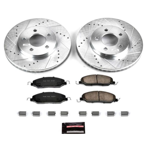 Power Stop 05-10 Ford Mustang Front Z23 Evolution Sport Brake Kit