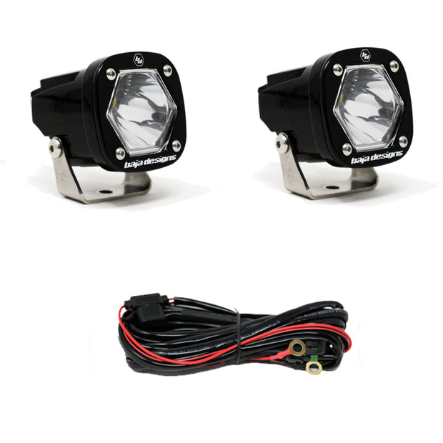 Baja Designs S1 Spot LED Light w/ Mounting Bracket Pair