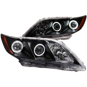 ANZO 2007-2009 Toyota Camry Projector Headlights w/ Halo Black