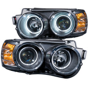 ANZO 2012-2015 Chevrolet Sonic Projector Headlights w/ Halo Black (CCFL)
