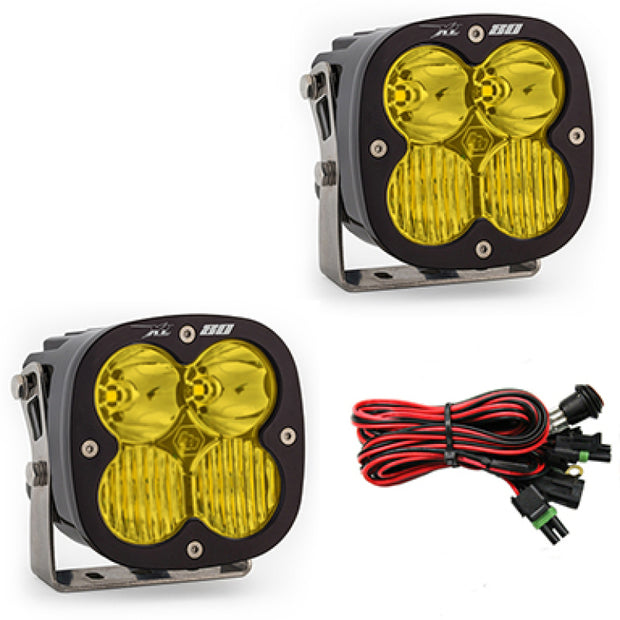 Baja Designs XL80 Series Driving Combo Pattern Pair LED Light Pods - Amber