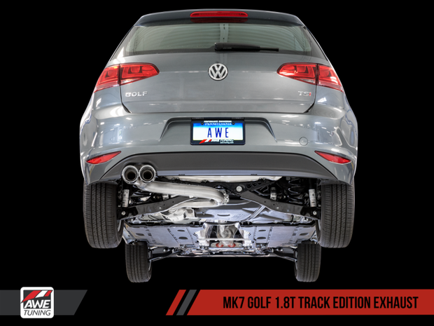 AWE Tuning VW MK7 Golf 1.8T Track Edition Exhaust w/Diamond Black Tips (90mm)