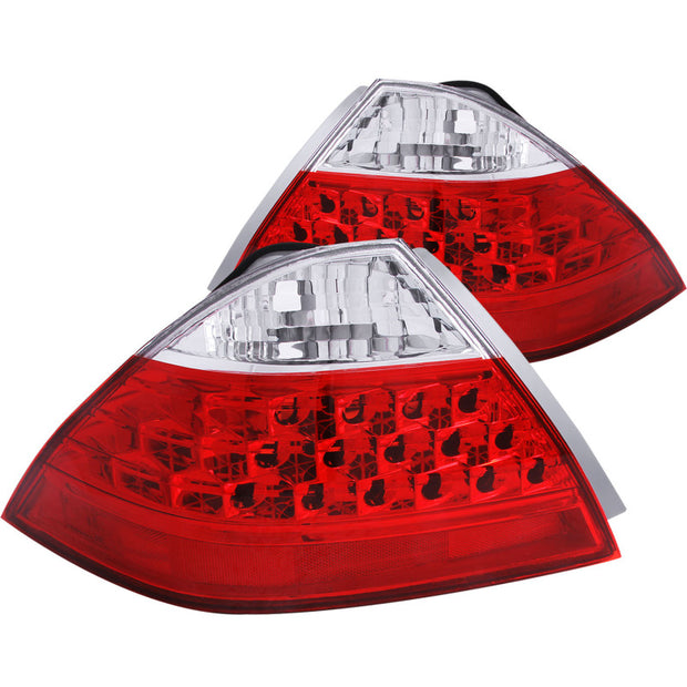ANZO 2006-2007 Honda Accord Taillights Red/Clear