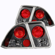 ANZO 2001-2004 Honda Civic Taillights Black