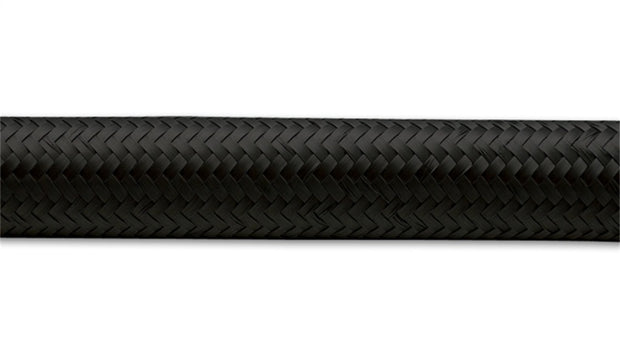 Vibrant -4 AN Black Nylon Braided Flex Hose (5 foot roll)