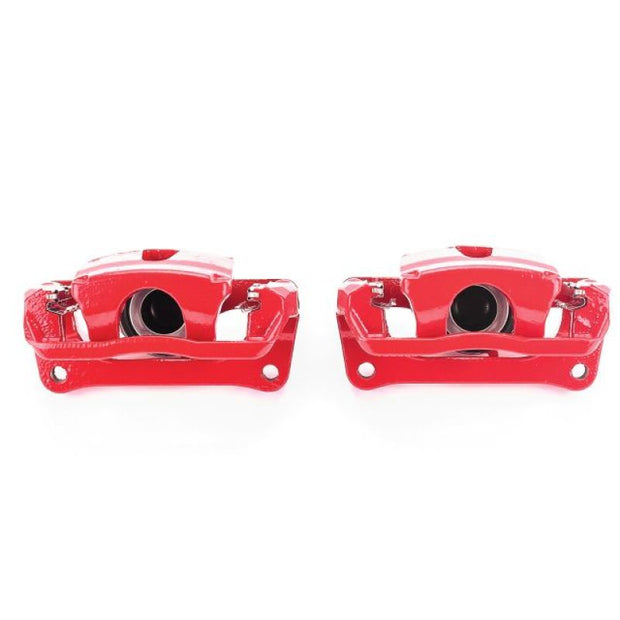Power Stop 12-17 Ford F-150 Rear Red Calipers w/Brackets - Pair