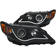 ANZO 2012-2013 Toyota Camry Projector Headlights w/ Halo Black