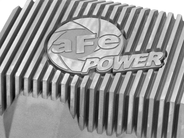 afe Front Differential Cover (Raw; Street Series); Ford Diesel Trucks 94.5-14 V8-7.3/6.0/6.4/6.7L