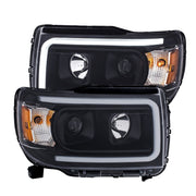 ANZO 2015+ GMC Canyon Projector Headlights w/ Plank Style Design Black w/ Amber