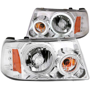 ANZO 2001-2011 Ford Ranger Projector Headlights w/ Halo Chrome (CCFL) 1 pc